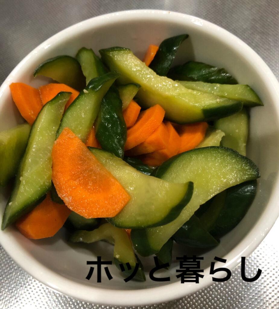 かんたんぬか美人で漬けた野菜
